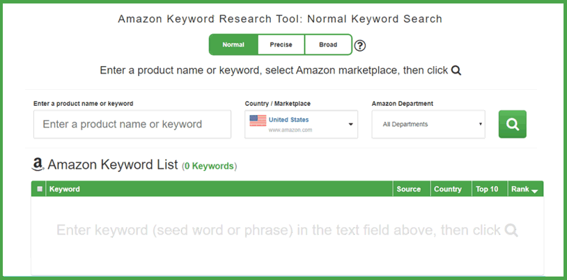 How to use the Amazon Keyword Tool